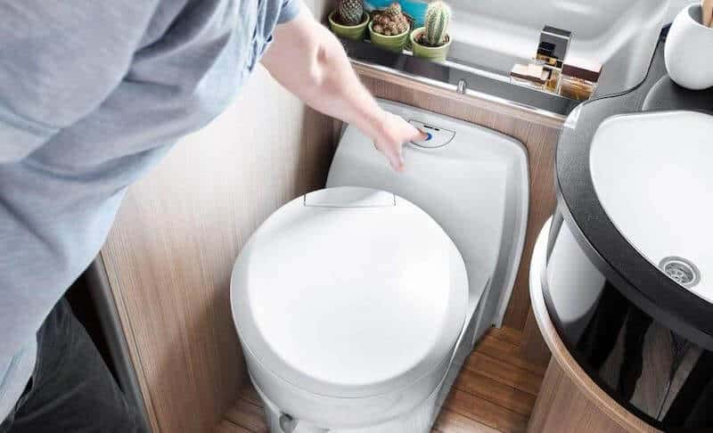 Traditional Gravity Flush RV toilet